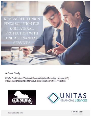 Kemba Credit Union Case Study for VSI or Vendor Single Interest with Unitas Financial Servcies