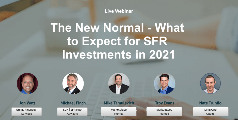 The New Normal: What to Expect for SFR Investments in 2021